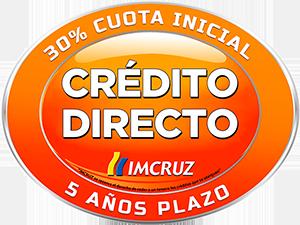 credito directo 5 year plazo, 30% cuota inicial, imcruz